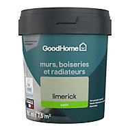 Peinture résistante murs, boiseries et métal GoodHome vert Limerick satin 0,75L