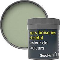 Testeur peinture résistante murs, boiseries et métal GoodHome vert Limerick mat 50ml