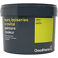 Peinture résistante murs, boiseries et métal GoodHome vert Cabra satin 2,5L