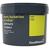 Peinture résistante murs, boiseries et métal GoodHome vert Cabra mat 2,5L