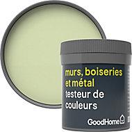 Testeur peinture résistante murs, boiseries et métal GoodHome vert Galway mat 50ml