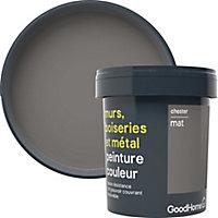 Peinture résistante murs, boiseries et métal GoodHome gris Chester mat 0,75L