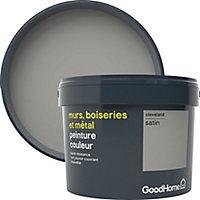 Peinture résistante murs, boiseries et métal GoodHome gris Cleveland satin 2,5L