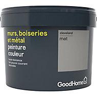 Peinture résistante murs, boiseries et métal GoodHome gris Cleveland mat 2,5L