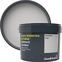 Peinture résistante murs, boiseries et métal GoodHome gris Philadelphia mat 2,5L