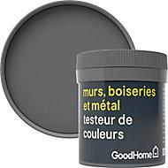 Testeur peinture résistante murs, boiseries et métal GoodHome gris Princeton mat 50ml