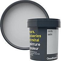 Peinture résistante murs, boiseries et métal GoodHome gris Melville satin 0,75L
