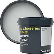 Peinture résistante murs, bois et métal GoodHome gris Hempstead satin 5L