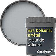 Testeur peinture résistante murs, boiseries et métal GoodHome gris Brooklyn mat 50ml