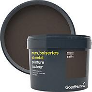 Peinture résistante murs, boiseries et métal GoodHome noir Bogota satin 2,5L