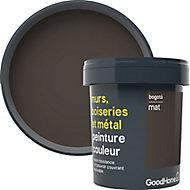 Peinture résistante murs, boiseries et métal GoodHome noir Bogota mat 0,75L