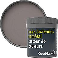 Testeur peinture résistante murs, boiseries et métal GoodHome marron Cordoba mat 50ml