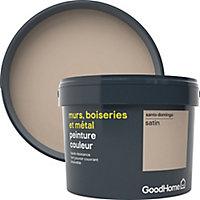 Peinture résistante murs, boiseries et métal GoodHome beige Santo Domingo satin 2,5L