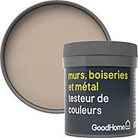 Testeur peinture résistante murs, boiseries et métal GoodHome beige Santo Domingo mat 50ml