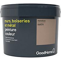 Peinture résistante murs, boiseries et métal GoodHome beige Mendoza satin 2,5L