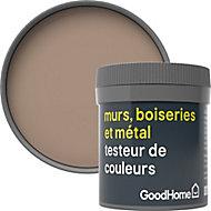 Testeur peinture résistante murs, boiseries et métal GoodHome beige Mendoza mat 50ml