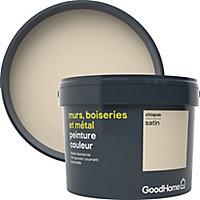 Peinture résistante murs, boiseries et métal GoodHome beige Chiapas satin 2,5L