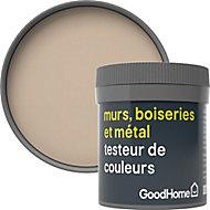 Testeur peinture résistante murs, boiseries et métal GoodHome beige Sao Paulo mat 50ml
