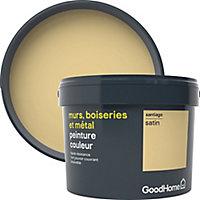 Peinture résistante murs, boiseries et métal GoodHome jaune Santiago satin 2,5L