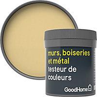 Testeur peinture résistante murs, boiseries et métal GoodHome jaune Santiago mat 50ml