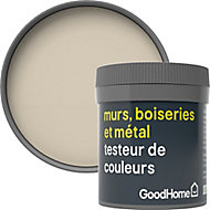 Testeur peinture résistante murs, boiseries et métal GoodHome beige Puebla mat 50ml