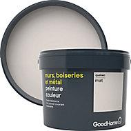 Peinture résistante murs, boiseries et métal GoodHome blanc Quebec mat 2,5L