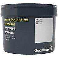 Peinture résistante murs, boiseries et métal GoodHome blanc Whistler satin 2,5L