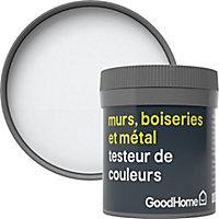 Testeur peinture résistante murs, boiseries et métal GoodHome blanc North Pole mat 50ml