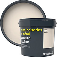 Peinture résistante murs, bois et métal GoodHome blanc Juneau satin 5L