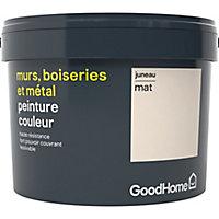 Peinture résistante murs, boiseries et métal GoodHome blanc Juneau mat 2,5L