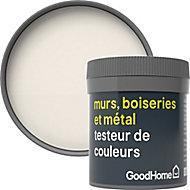 Testeur peinture résistante murs, boiseries et métal GoodHome blanc Ottawa mat 50ml