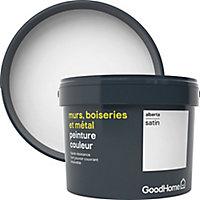 Peinture résistante murs, boiseries et métal GoodHome blanc Alberta satin 2,5L