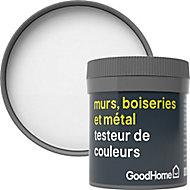 Testeur peinture résistante murs, boiseries et métal GoodHome blanc Alberta mat 50ml