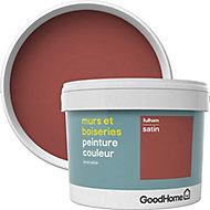 Peinture murs et boiseries GoodHome rouge Fulham satin 2,5L