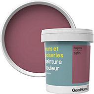 Peinture murs et boiseries GoodHome violet Magome satin 0,75L