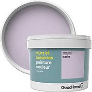 Peinture murs et boiseries GoodHome violet Hokkaido satin 2,5L