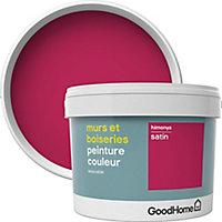 Peinture murs et boiseries GoodHome rose Himonya satin 2,5L