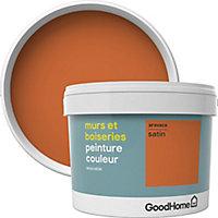 Peinture murs et boiseries GoodHome orange Aravaca satin 2,5L