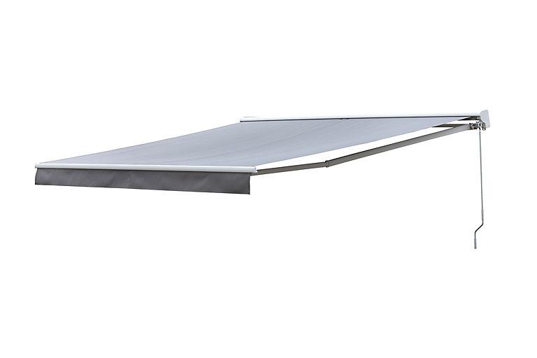 Store Banne Manuel Semi Coffre Taupe 3 75 X 3 M Castorama