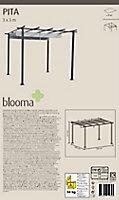 Tonnelle Pita Blooma noire 3 x 3m