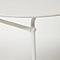 Table basse de jardin acier ronde Blooma Janeiro blanche ø50 cm