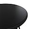 Table basse de jardin acier ronde Blooma Morillo noire et blanche ø50 cm