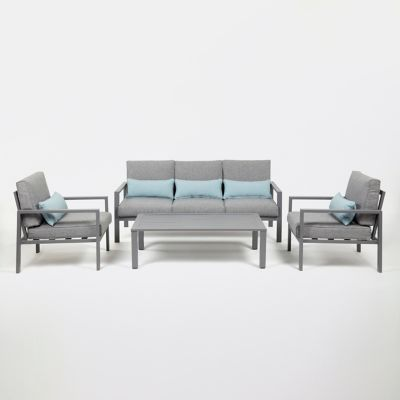 canap de jardin aluminium blooma nymark gris castorama. Black Bedroom Furniture Sets. Home Design Ideas