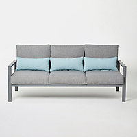 Salon bas de jardin Blooma Nymark aluminium gris 5 personnes