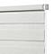 Store enrouleur Colours Elin jour nuit ligné blanc et gris 90 x 180 cm
