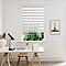Store enrouleur Colours Elin jour nuit ligné blanc et gris 75 x 240 cm