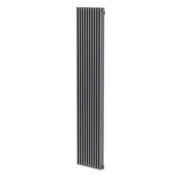Radiateur eau chaude GoodHome Kensal Vertical Gris 1 117 W