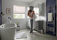 Sèche-serviettes eau chaude GoodHome Solna vertical chromé mat 426 W