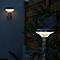Borne LED Blooma Carson chrome blanc neutre IP44