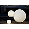 Boule lumineuse solaire LED Blooma Hansbodo blanc et RVB Ø15 cm IP65